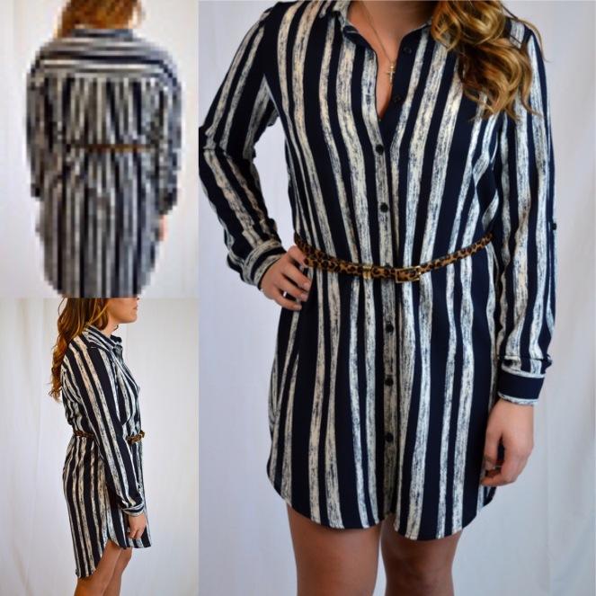 Navy Striped Tunic $48